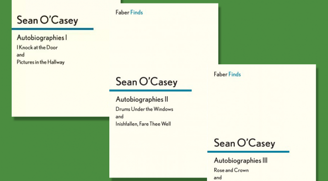 covers of Sean O'Casey's autobiographies published by Faber Finds