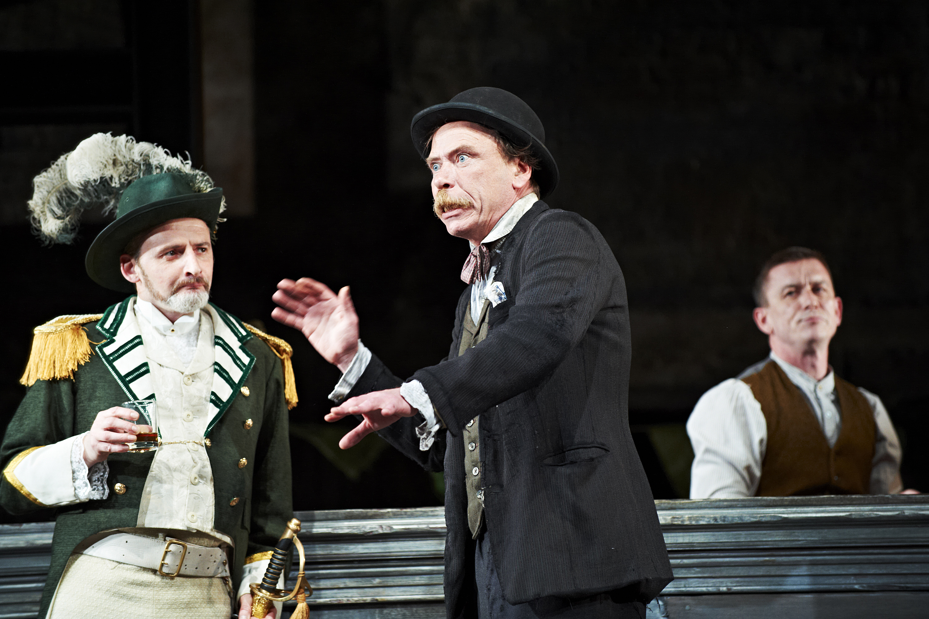 The Plough and the Stars 2012 Abbey Theatre, Frankie McCafferty, Joe Hanley, Tony Flynn, Photo Credit Ros Kavanagh