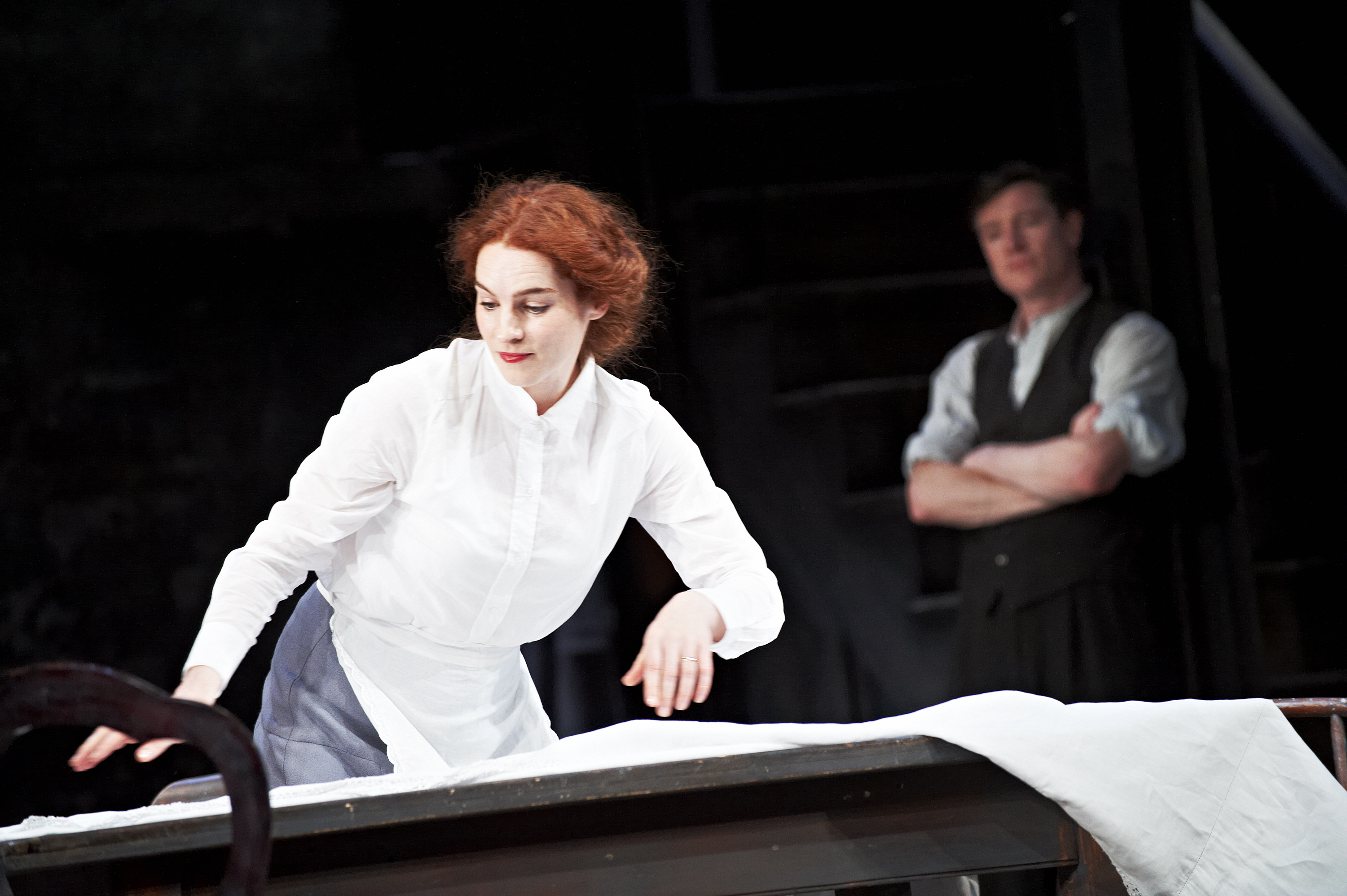 The Plough and the Stars 2012 Abbey Theatre, Kelly Campbell and Barry Ward, Photo Credit Ros Kavanagh