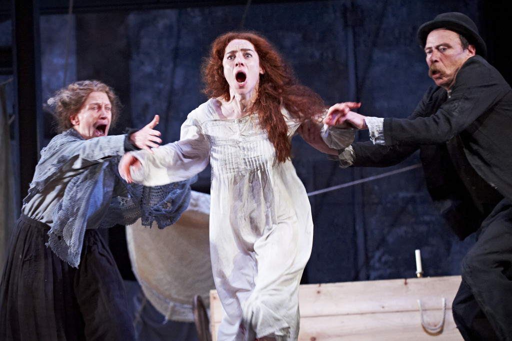 The Plough and the Stars 2012 Abbey Theatre, Gabrielle Reidy, Kelly Campbell and Joe Hanley, Photo Credit Ros Kavanagh