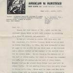 letter from Ernest Blythe to David Butcher
