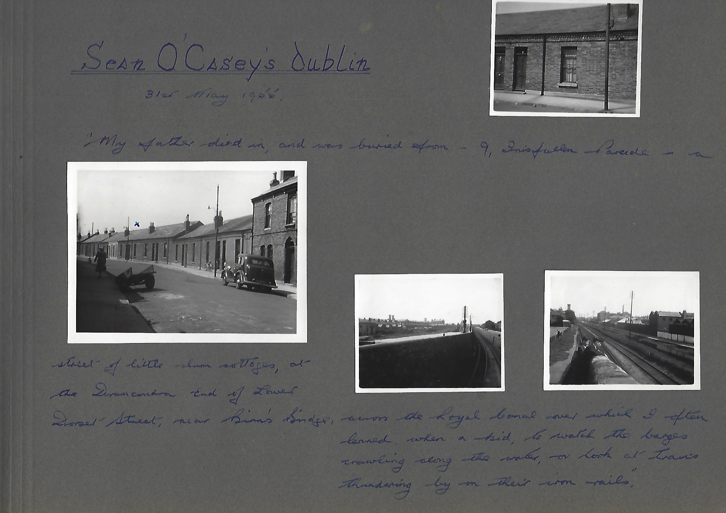 David Butcher's photo album of Dublin 1956 p. 1