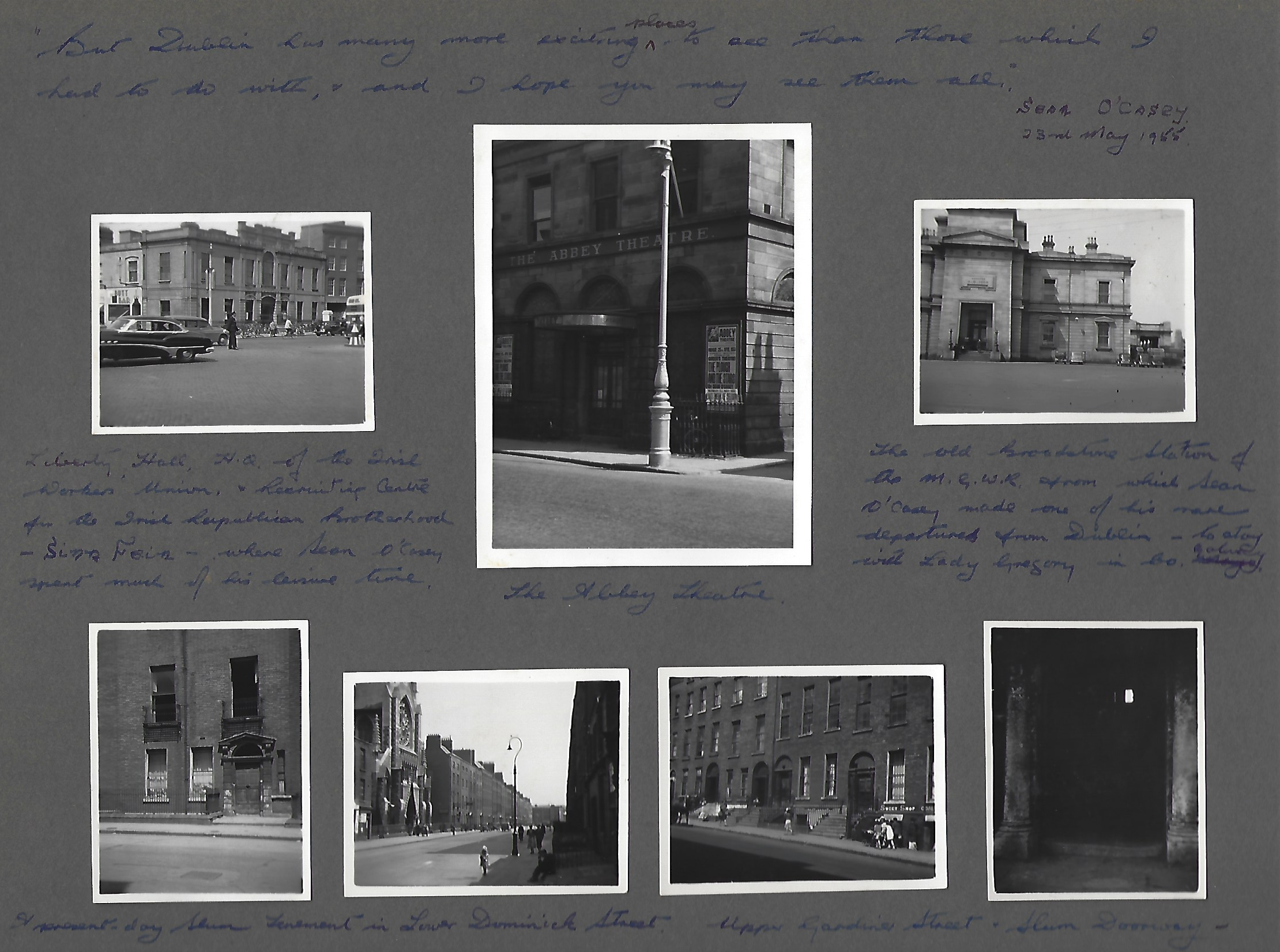 David Butcher's photo album of Dublin 1956 p. 4