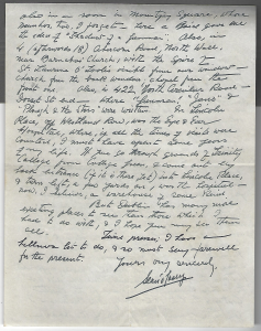 Letter from Sean O'Casey to David Butcher p. 2